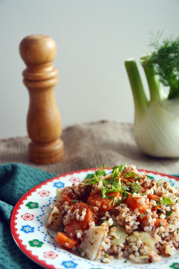 kasza gryczana i jęczmienna z warzywami 3