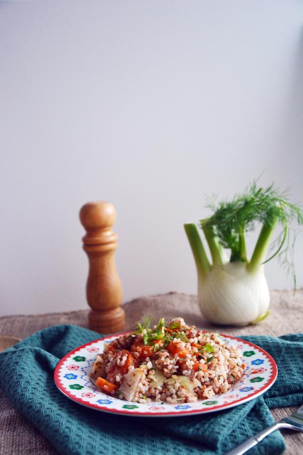 kasza gryczana i jęczmienna z warzywami 4