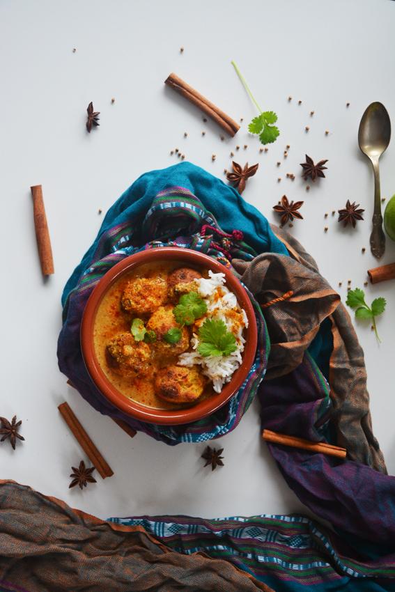 malai kofta indyjskie klopsiki wegańskie 1