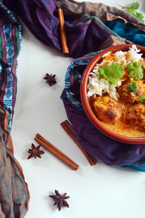 malai kofta indyjskie klopsiki wegańskie 2