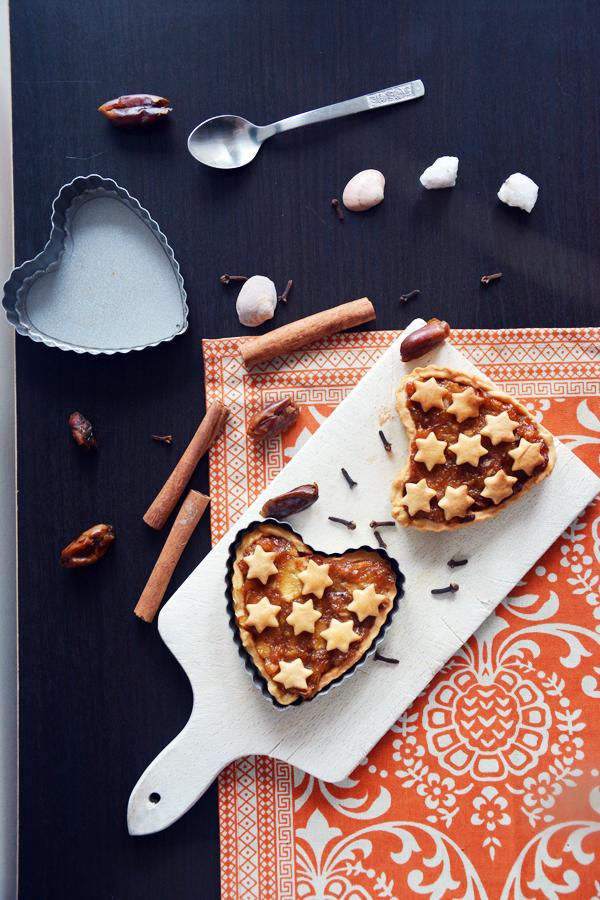 Mini tarta z jabłkami na Walentynki