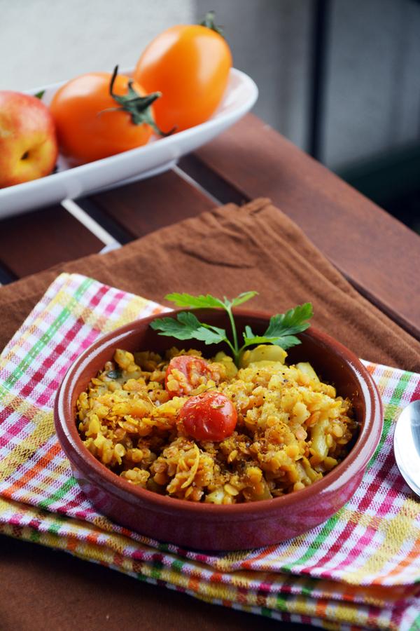 soczewica z fasolką szparagową 2 wegański