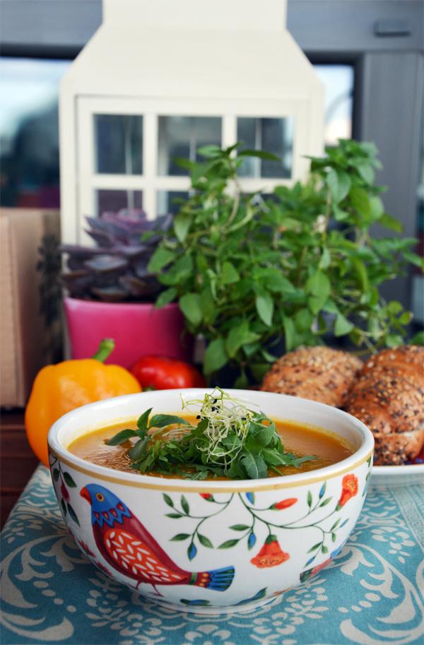 zupa dyniowa mleko sojowe 1