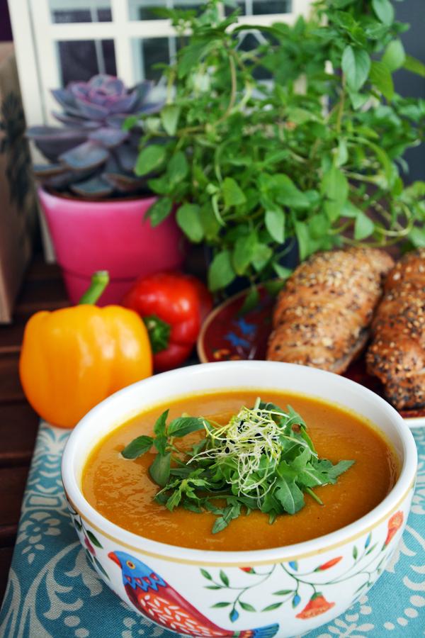 zupa dyniowa mleko sojowe 2