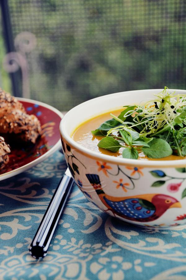 zupa dyniowa mleko sojowe 3